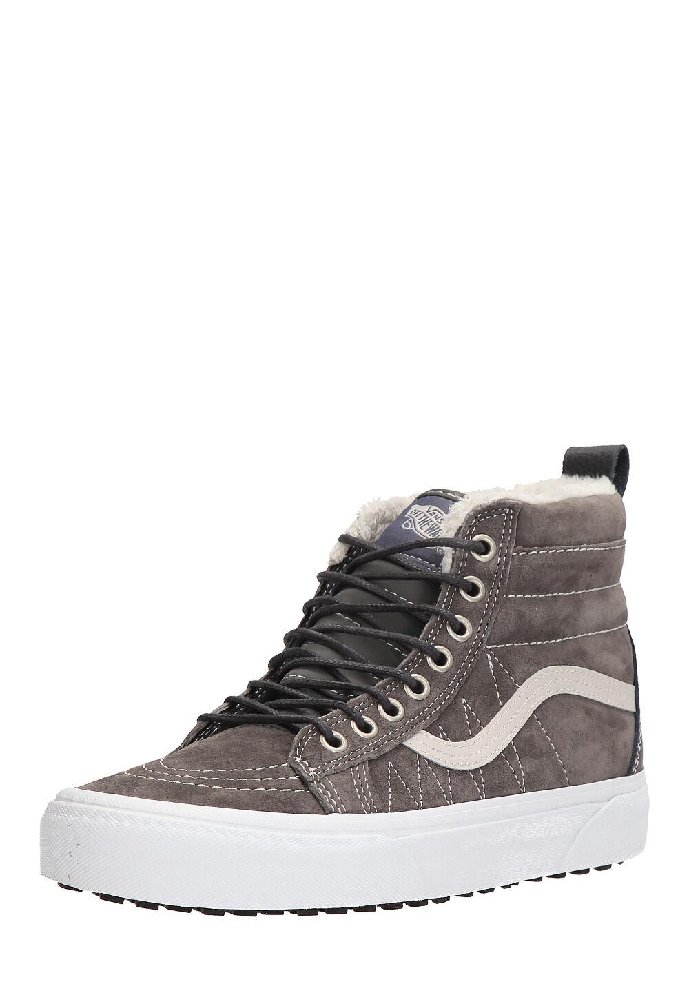Vans Hightop-Sneaker UA Sk8-Hi Mte, Leder, grau/weiß