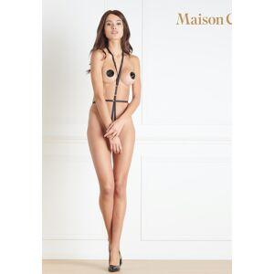 Maison Close Harness + Pasties Jeux Magnetiques, noir schwarz