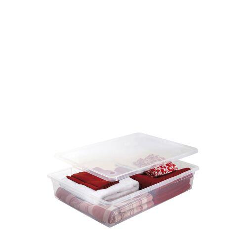 Sundis Aufbewahrungsbox mit Rollen Clear Box, 55 l
