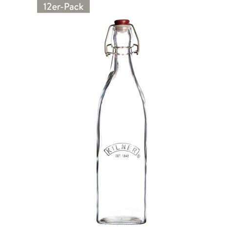 Kilner Glasflasche, 12er-Pack, 1 l