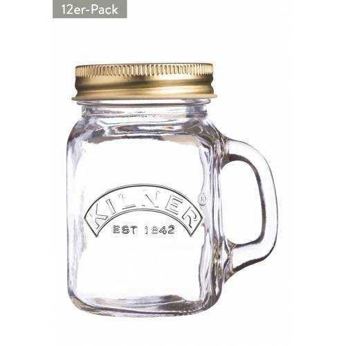 Kilner Trinkglas, 12er-Pack, 140 ml