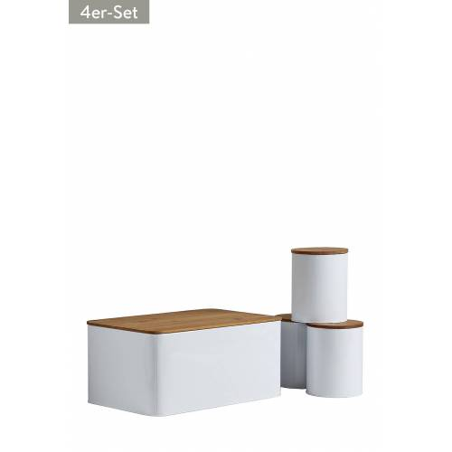 Wenko Brotkasten Set, 4-tlg, B32,5 x H15cm x T21 cm
