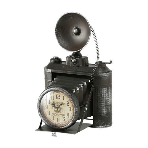 Boltze Tischuhr Fotoapparat, B20 x H33 x T19 cm