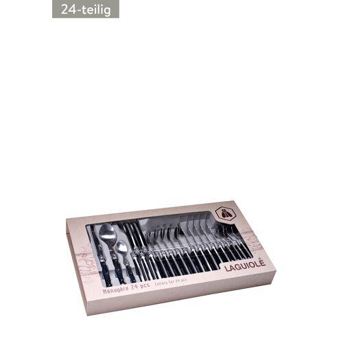 Laguiole Besteck-Set, 24-teilig, L50,8 x B26,6 x H5,4 cm