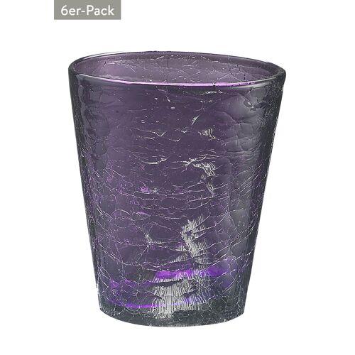 Tognana Wasserglas Kolors, 6er-Pack, Ø9 x H9,5 cm, 0,31 l