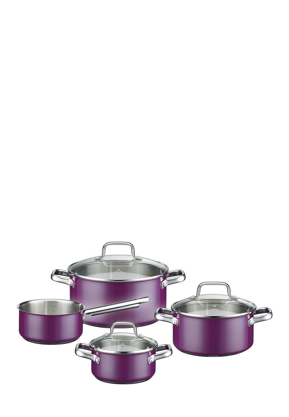 GSW Kochtopf-Set Magic Color, 4-teilig, Edelstahl