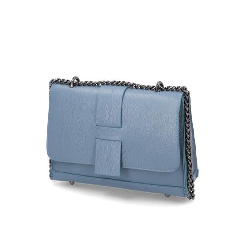Lazzarini Glattleder Tasche -  blau