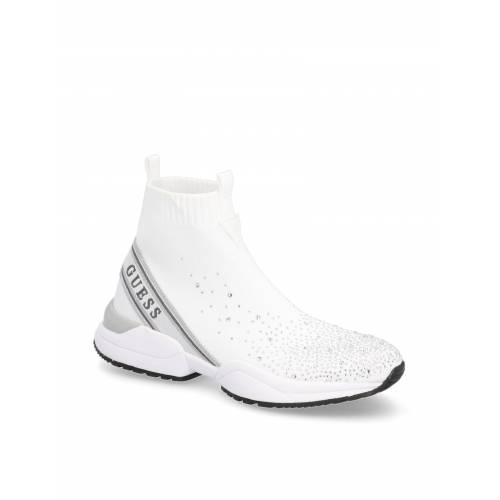 Guess Textil Sportiver Slipper weiss