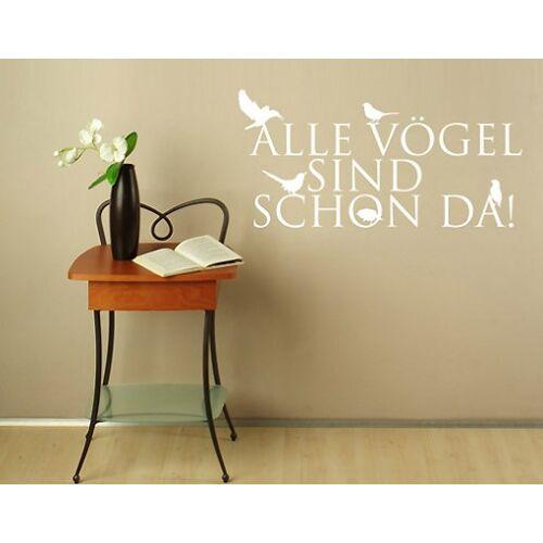 Bilderwelten DE Wandtattoo Zitate - Wandzitate No.BR166 alle Vögel...