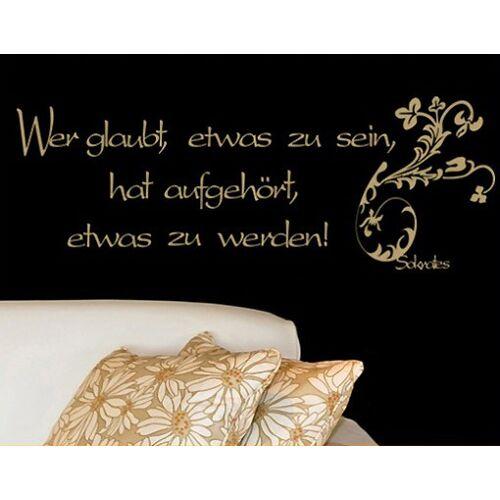 Bilderwelten DE Wandtattoo Zitate - Wandzitate No.241 Sein & Werden