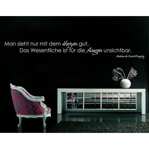 Bilderwelten DE Wandtattoo Zitate - Wandzitate No.TM16 mit dem Herzen