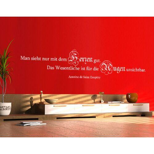 Bilderwelten DE Wandtattoo Zitate - Wandzitate No.420 Auge & Herz