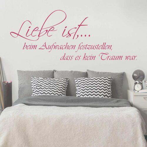 Bilderwelten DE Wandtattoo Zitate - Wandzitate No.KP163 Liebe ist...