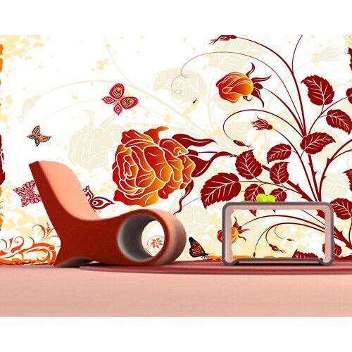 Bilderwelten DE Selbstklebende Tapete - Fototapete Red Rose