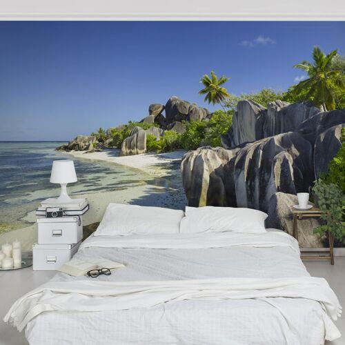 Bilderwelten DE Tapete selbstklebend - Traumstrand Seychellen - Fototapete Querformat