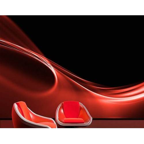 Bilderwelten DE Selbstklebende Tapete - Fototapete Red Wave