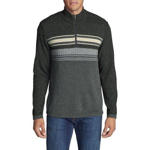 Eddie Bauer ® Sidecut Pullover mit 1/4-Reißverschluss Herren Grau Gr. M