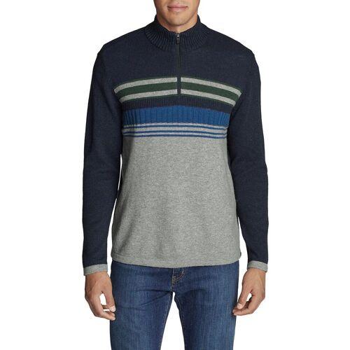 Eddie Bauer ® Sidecut Pullover mit 1/4-Reißverschluss Herren Blau Gr. M