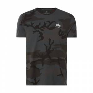 alpha industries T-Shirt mit Camouflage-Muster
