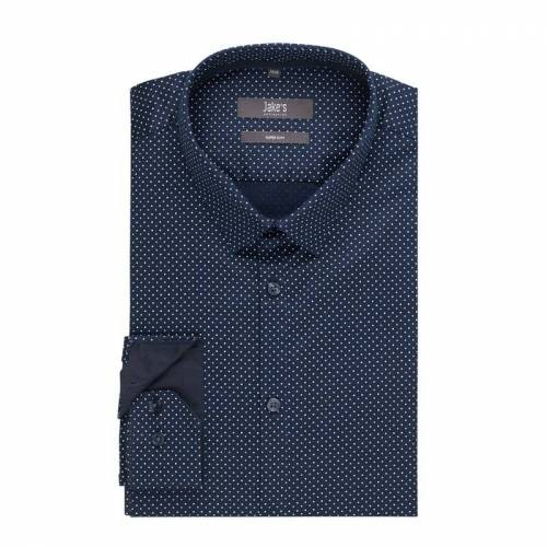 Jake*s Super Slim Fit Business-Hemd aus Pinpoint