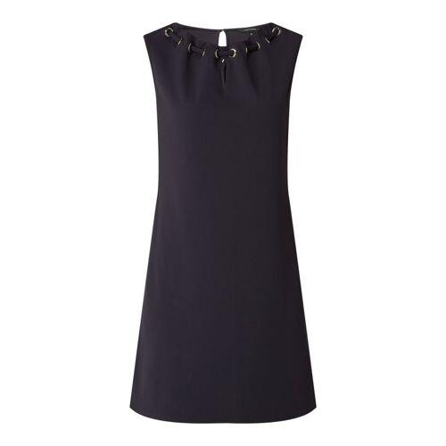 comma Kleid mit Schlüsselloch-Ausschnitt