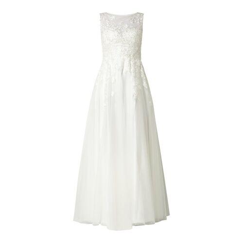 luxuar Brautkleid aus Tüll mit floralen Stickereien