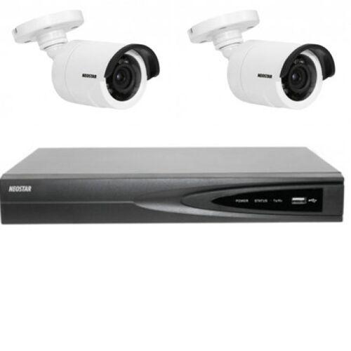 Netzwerk-IP Videoüberwachung Set für Außenbereich 2xIR Netzwerkkamera,4 Kanal IP NVR mit PoE -IS-IPKS13