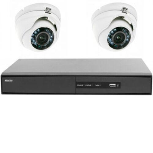 Überwachungssystem 2xFarb Mini IR Dome mit SONY CCD 720TVL