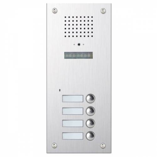 Unterputz-Türstation für 4-Famillienhaus mit versteckter Kamera-BMV-2404S