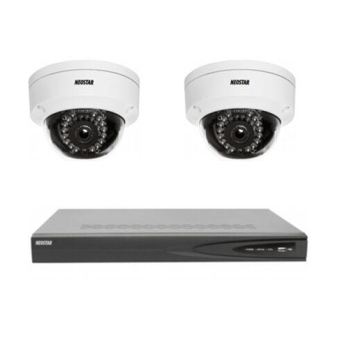 Netzwerk-IP Videoüberwachung Set für Innenbereich 2xIR Netzwerk-Kamera, 4 Kanal IP Netzwerk Rekorder mit PoE -IS-IPKS10