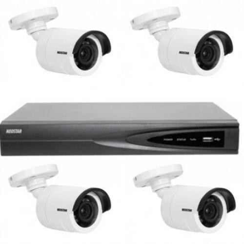 Netzwerk-IP Videoüberwachung Set für Außenbereich 4xIR Netzwerkkamera, 4 Kanal IP NVR mit PoE -IS-IPKS17