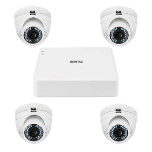 Video Überwachungssystem mit 4xIR Dome-Kamera 600TVL