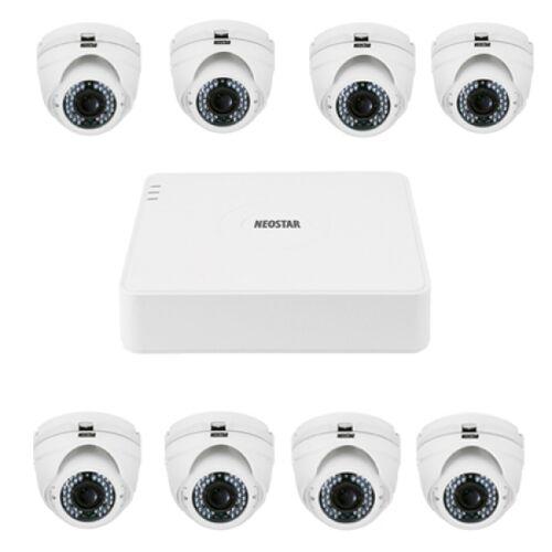 Video Überwachungssystem mit 8xIR Dome-Kamera 600TVL