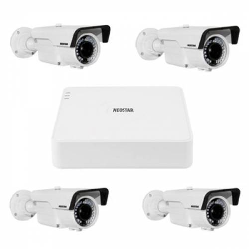 Video Überwachungssystem mit 4xFarb Überwachungskamera 600TVL