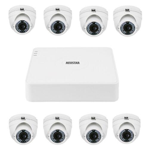 Video Überwachungssystem mit 8xIR Dome-Kamera 720TVL