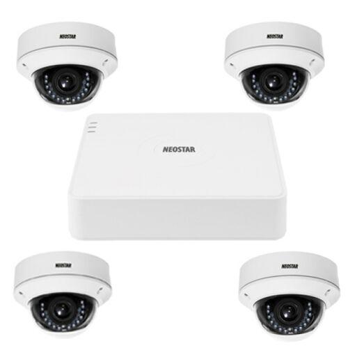 Video Überwachungssystem mit 4xIR Dome-Überwachungskamera 600TVL