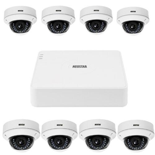 Video Überwachungssystem mit 8xIR Dome-Überwachungskamera 600TVL