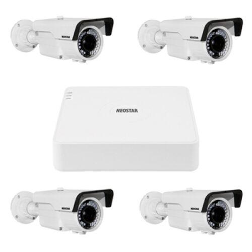 Video Überwachungssystem mit 4xFarb Überwachungskamera 720TVL