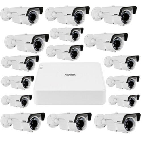 Video Überwachungssystem mit 16xFarb Überwachungskamera 600TVL
