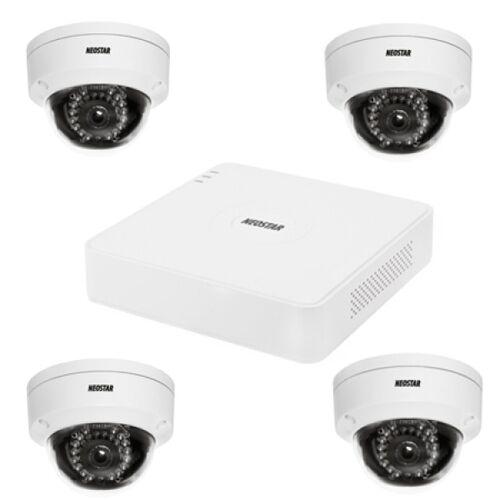 Netzwerk-IP Videoüberwachung Set für Außenbereich 4xIR Netzwerk-Domekamera, 4 Kanal IP Netzwerk Rekorder NVR -IS-IPKS26