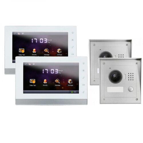"""IP Türklingel mit Kamera für 1-Familienhaus mit 2xAufputz Außenstation und 2x7"""" LCD-2IPSET02"""