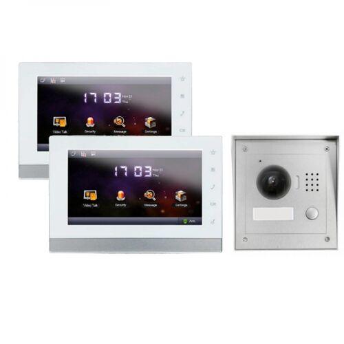 """IP Türklingel mit Kamera für 1-Familienhaus mit Aufputz Außenstation und 2x7"""" LCD-IS-2IPSET01"""