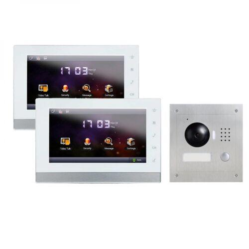 """IP Türklingel mit Kamera für 1-Familienhaus mit Unterputz Außenstation und 2x7"""" LCD-2IPSET11"""