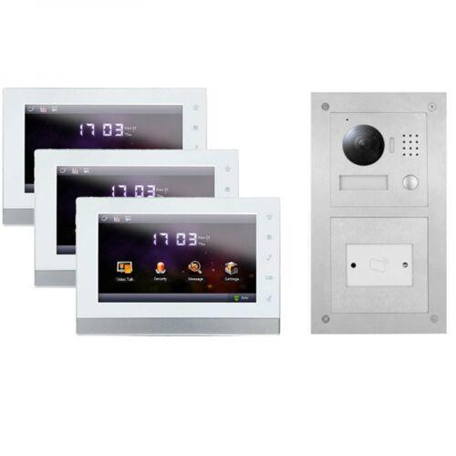 """2-Draht IP Video Sprechanlage für 1-Fam.Haus mit RFID und 3x7"""" TFT"""