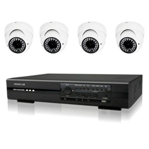 Videoüberwachung Set 4xFarb IR Dome Überwachungskamera 540TVL
