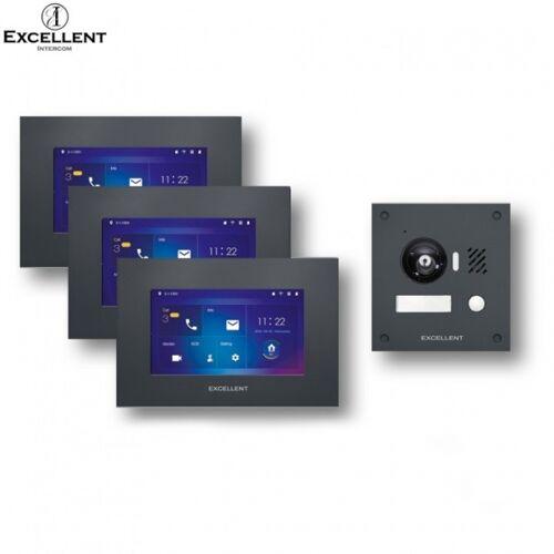 Excellent 2 Draht Video Türsprechanlage mit HD Kamera 150° 3 IS