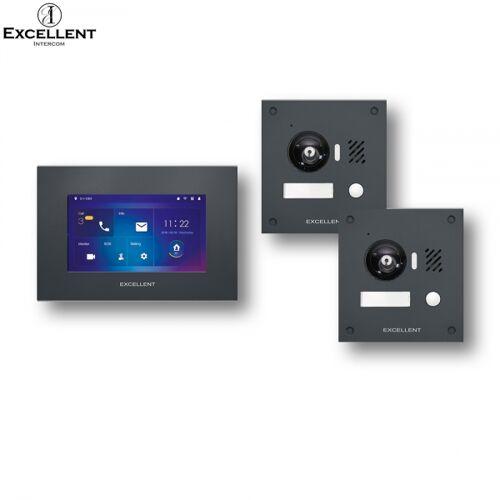 Excellent IP Video Türsprechanlage mit 2x HD Kameras 150°