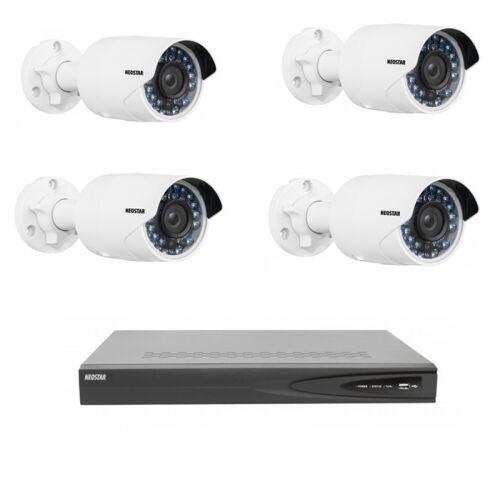 Netzwerk-IP Videoüberwachung Set 4x2.0 Megapixel IR Netzwerkkamera, 4 Kanal IP NVR mit PoE
