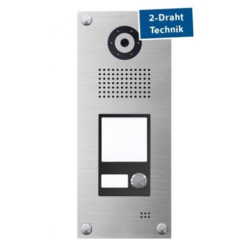 2-Draht IP Video Haussprechanlage mit Beschriftungsfläche
