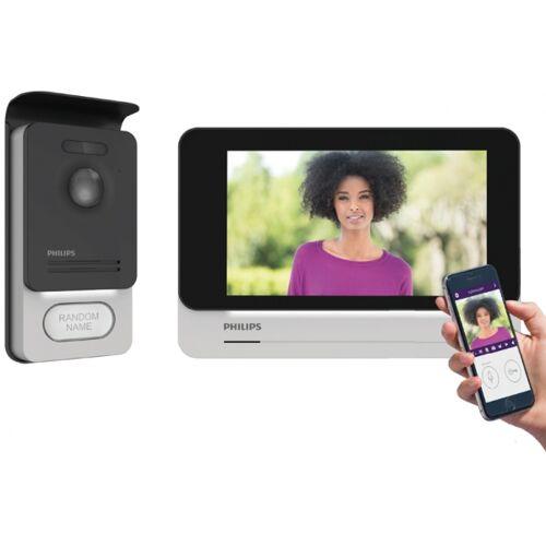 """Philips Video Sprechanlage PHILIPS mit WLAN 7""""-Touchscreen und Aufputz Türstation-IS-PH02"""